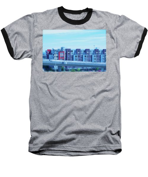 Tacoma Blues - Cityscape Art Print Baseball T-Shirt