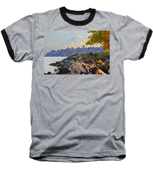 Baseball T-Shirt featuring the photograph Tacoma In The Fall by Jack Moskovita