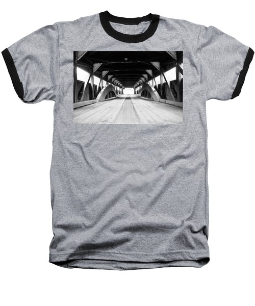 Taftsville Covered Bridge Baseball T-Shirt