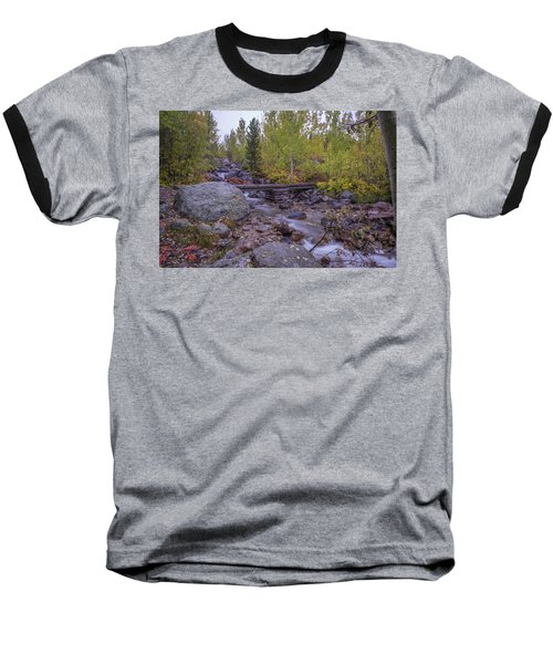 Taggert Creek Waterfall Baseball T-Shirt