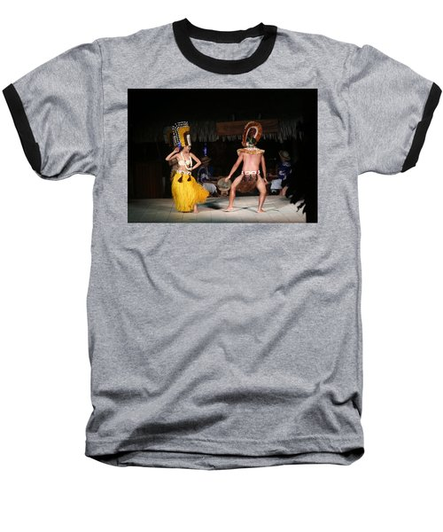 Tahitian Dancers Baseball T-Shirt
