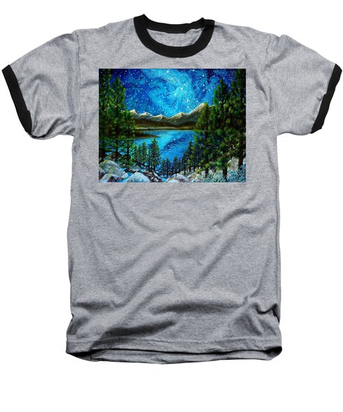 Tahoe A Long Time Ago Baseball T-Shirt by Matt Konar
