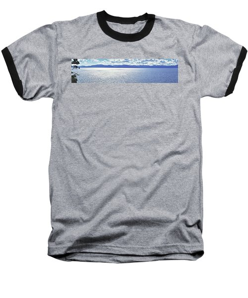 Tahoe From The East Shore Baseball T-Shirt