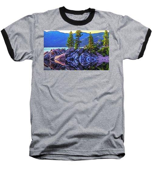 Tahoe Water Reflections Baseball T-Shirt