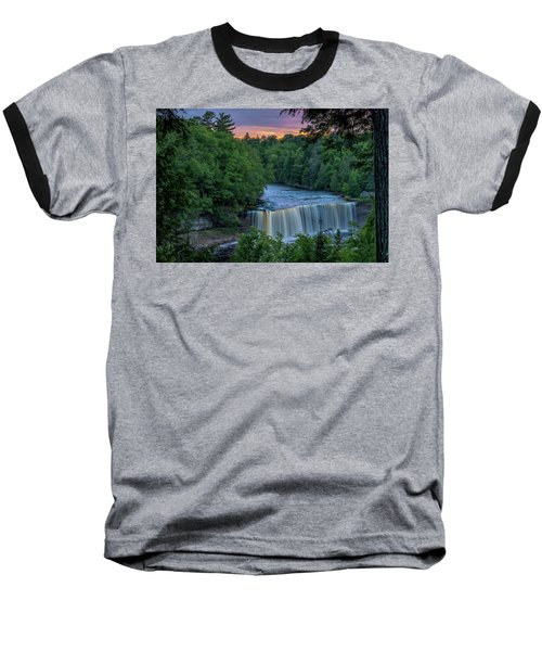Tahquamenon Falls Sunset. Baseball T-Shirt