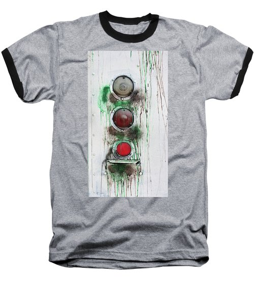 Baseball T-Shirt featuring the photograph Taillights On A Very Old Bus by Gary Slawsky