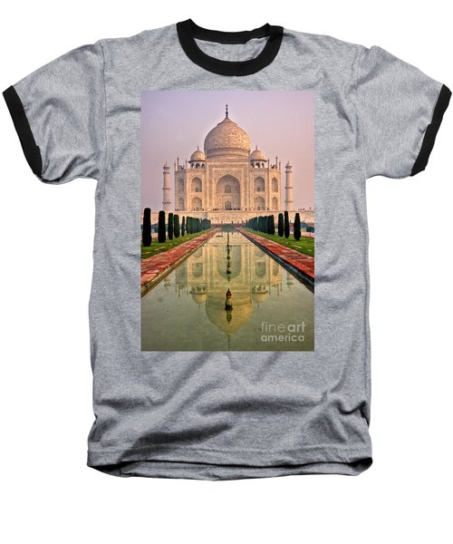 Taj Mahal At Sunrise Baseball T-Shirt