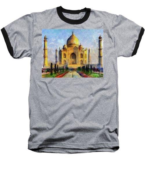 Taj Mahal Baseball T-Shirt by Dragica Micki Fortuna