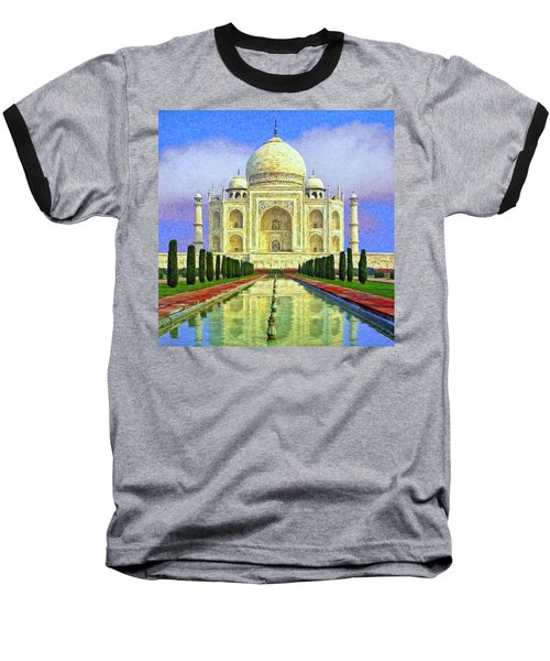Taj Mahal Morning Baseball T-Shirt by Dominic Piperata