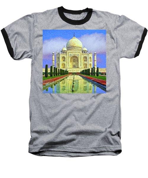 Taj Mahal Morning Baseball T-Shirt