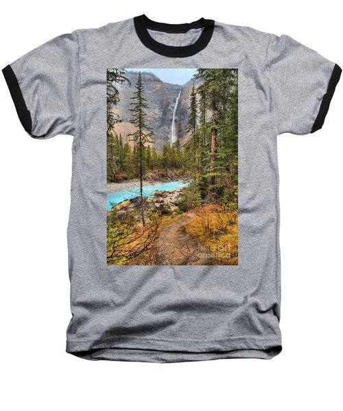 Baseball T-Shirt featuring the photograph Takakkaw Falls Fall Portrait by Adam Jewell