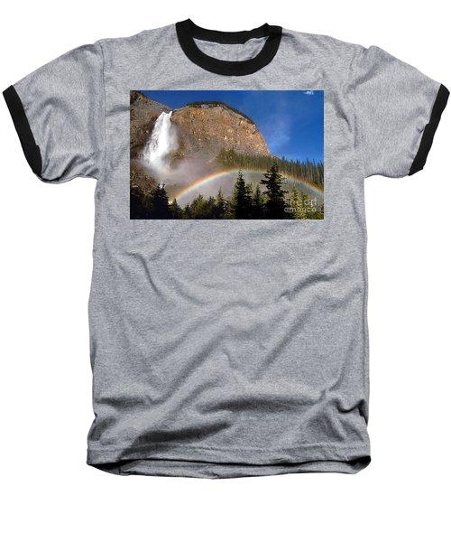 Takakkaw Falls B C Canada   Baseball T-Shirt