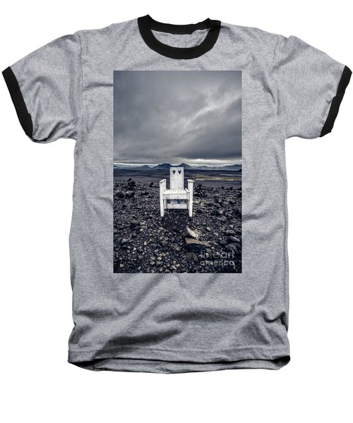 Baseball T-Shirt featuring the photograph Take A Seat Iceland by Edward Fielding