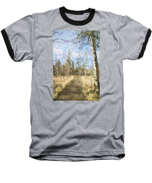 Baseball T-Shirt featuring the painting Take A Walk by Annette Berglund