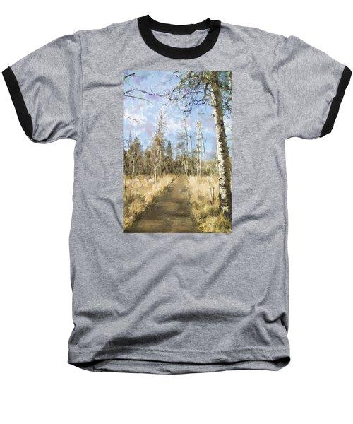 Take A Walk Baseball T-Shirt by Annette Berglund
