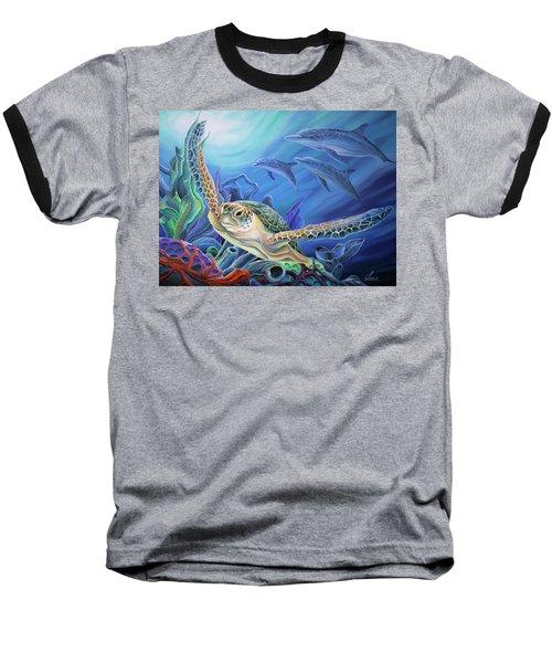Taking Flight Baseball T-Shirt by William Love