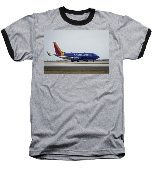 Take Off Southwest Airlines N7878a Hartsfield-jackson Atlanta International Airport Art Baseball T-Shirt