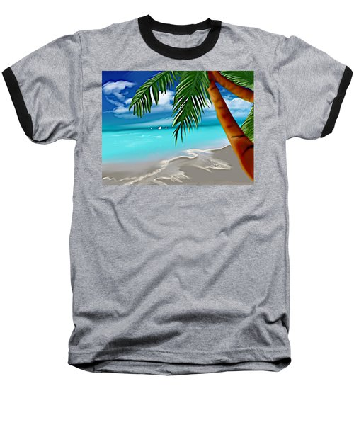 Takemeaway Beach Baseball T-Shirt