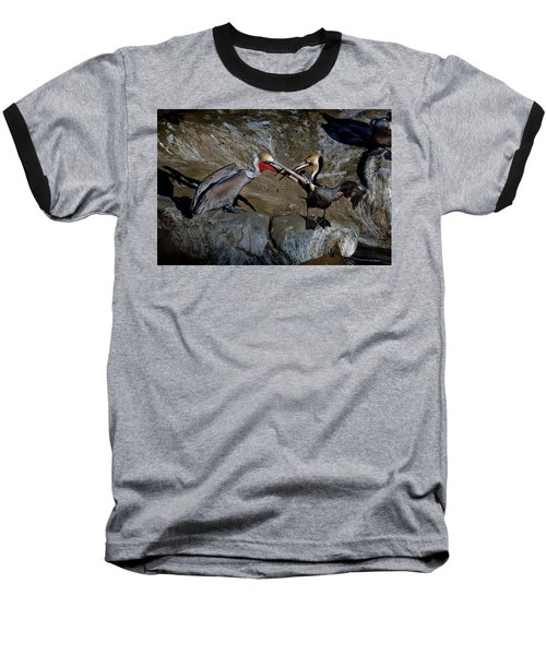 Taking A Bite Baseball T-Shirt by James David Phenicie