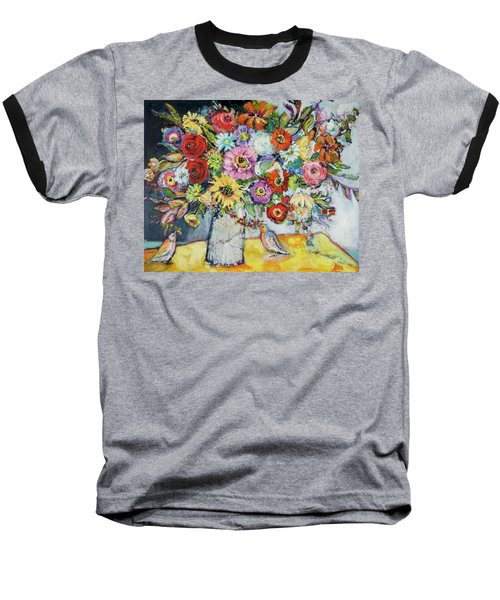 Taking Joy Baseball T-Shirt by Sharon Furner
