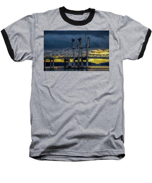 Tale Of 2 Bridges At Sunset Baseball T-Shirt