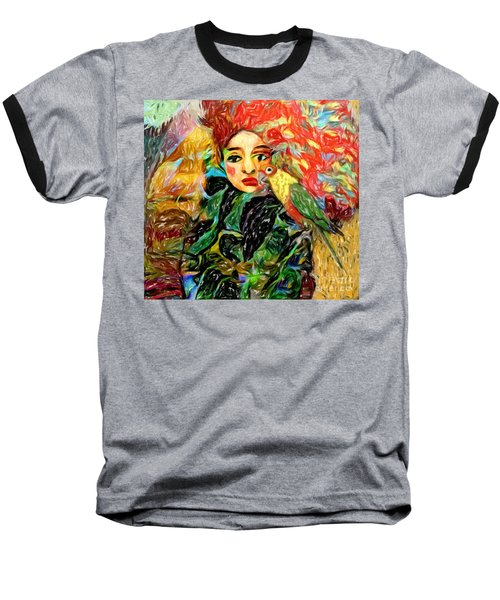 Baseball T-Shirt featuring the digital art Talk To Me by Alexis Rotella