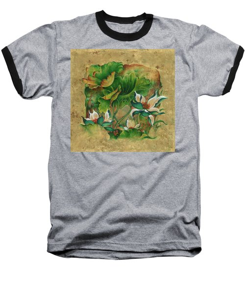 Baseball T-Shirt featuring the painting Talks About The Essence Of Life by Anna Ewa Miarczynska