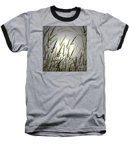 Baseball T-Shirt featuring the digital art Tall Grass And Sunlight by James Williamson