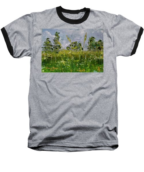 Baseball T-Shirt featuring the painting Tall Grass by Judith Rhue