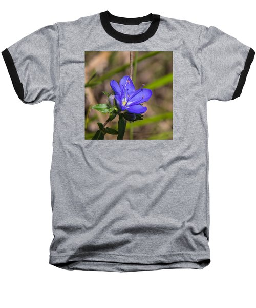 Tall Hydrolea Wildflower Baseball T-Shirt by Christopher L Thomley