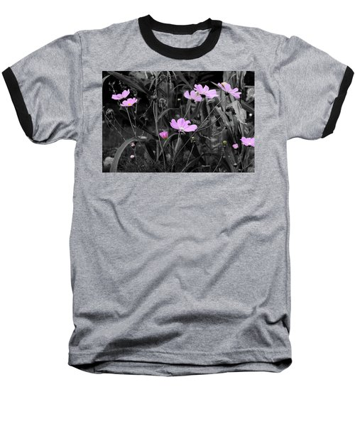 Tall Pink Poppies Baseball T-Shirt