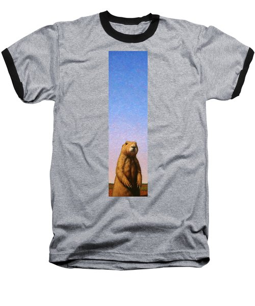 Tall Prairie Dog Baseball T-Shirt by James W Johnson