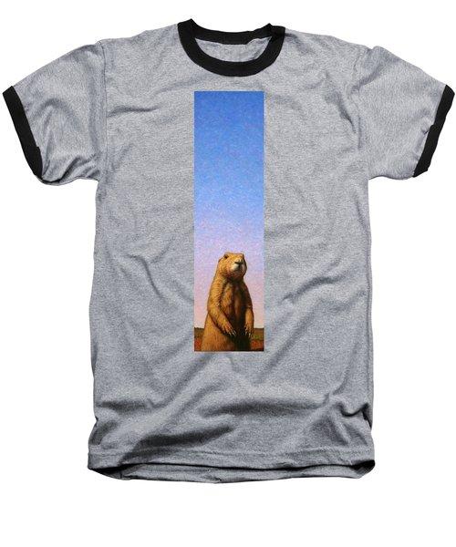 Tall Prairie Dog Baseball T-Shirt by James W Johnson