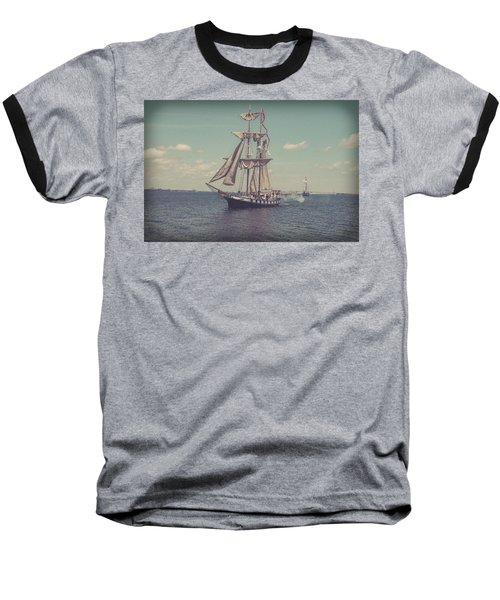 Tall Ship - 3 Baseball T-Shirt