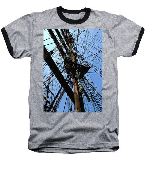 Tall Ship Design By John Foster Dyess Baseball T-Shirt