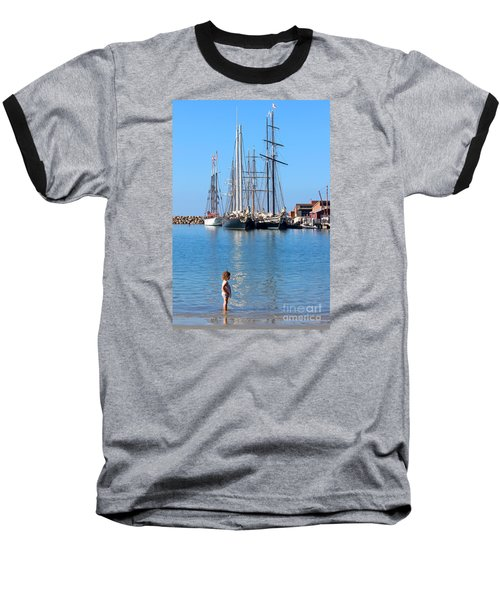 Baseball T-Shirt featuring the photograph Tall Ship Festival by Cheryl Del Toro