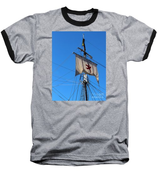 Tall Ship Mast Baseball T-Shirt