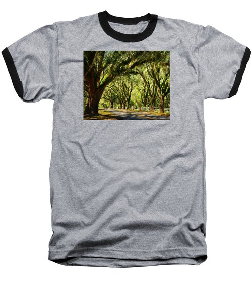 Tallahassee Canopy Road Baseball T-Shirt by Carla Parris
