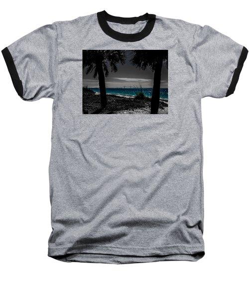 Tampa Bay Blue Baseball T-Shirt by Randy Sylvia