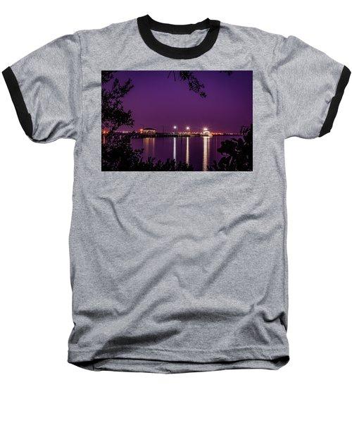 Tampa Bay Fishing Pier Baseball T-Shirt