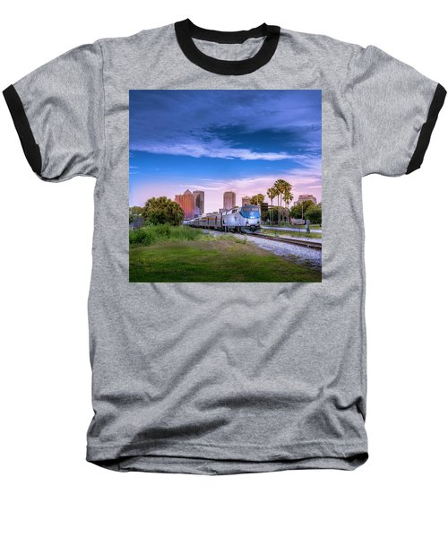Baseball T-Shirt featuring the photograph Tampa Departure by Marvin Spates