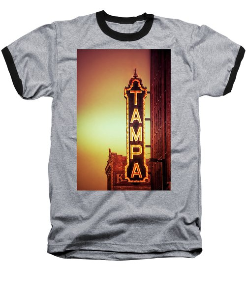 Tampa Theatre Baseball T-Shirt by Carolyn Marshall
