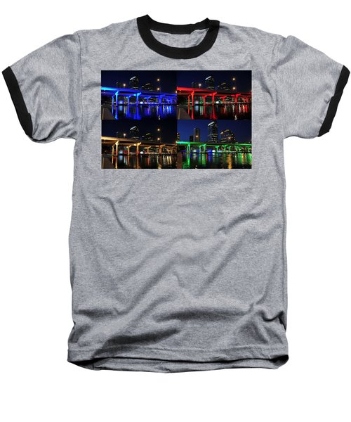 Baseball T-Shirt featuring the photograph Tampa's Colorful Bridges by David Lee Thompson