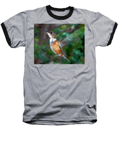 Tan Hummingbird Baseball T-Shirt by Joseph Frank Baraba
