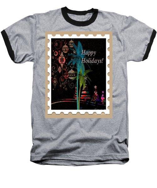 Baseball T-Shirt featuring the digital art Tan Stamp by Megan Dirsa-DuBois
