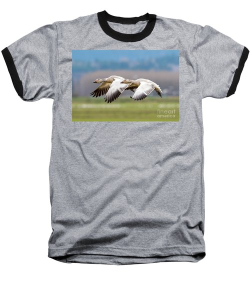 Baseball T-Shirt featuring the photograph Tandem Glide by Mike Dawson