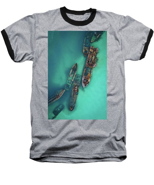 Tangalooma Wrecks Baseball T-Shirt