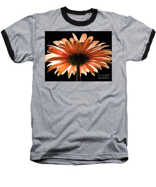 Tangerine Gerber Daisy Baseball T-Shirt