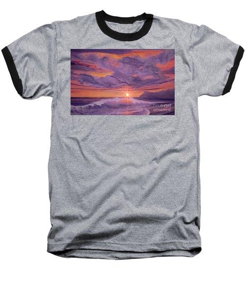 Tangerine Sky Baseball T-Shirt