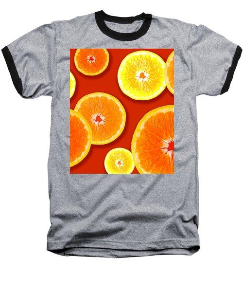 Tangerine Tango Baseball T-Shirt by Tara Hutton